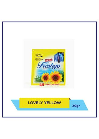 Kuning color Pengharum Ruangan . Freshgo Pengharum Lemari Lovely Yellow 30 Gr -