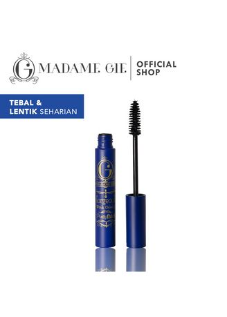 Hitam color Mata . Madame Gie Gorgeous Wink Celebs Pretty Thick - MakeUp Mascara Waterproof -
