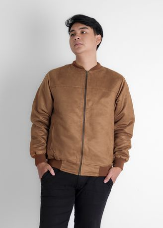ALMOND BROWN color Jackets . CANY BOCCA BOMBER JACKET ALMOND BROWN -