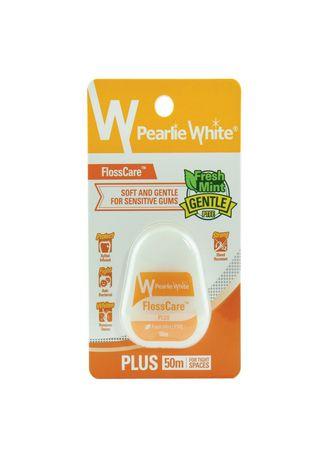 Yellow color Personal Care . ไหมขัดฟัน Pearlie White FLOSSCARE - PTFE PLUS -