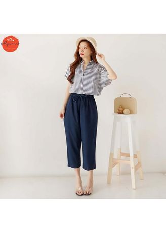 Biru Dongker color Overall . Ivanna Set - 1722 -