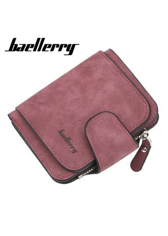 Wallets and Clutches . Baellerry 3 Fold PU Wallet Photo Holder Moneybag Coin Pocket Wallet Casual Solid Zipper Short Organizer Wallet For Women -