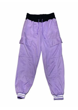 Lilac color Trousers . YCMNG Fleece Stylized Joggers -