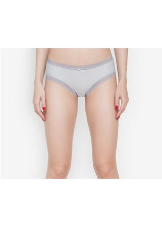 Light Blue color Panties . Adam & Eve Structured Brief Panty With Lace Lining -