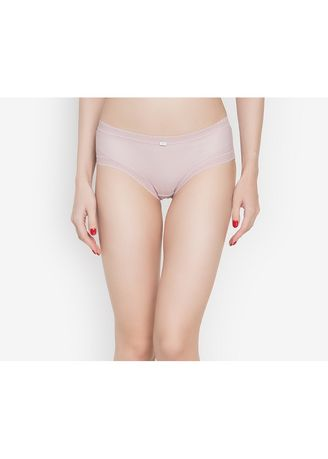 Pink color Panties . Adam & Eve Structured Brief Panty With Lace Lining -