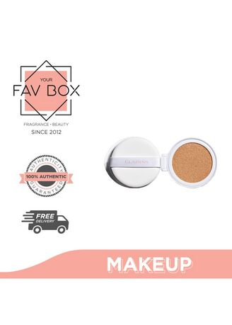 No Color color Face . YOUR FAV BOX Clarins Bright Plus Spf50 Brightening Cushion Foundation 100.3-Shell 13ML Refill With Sponge -