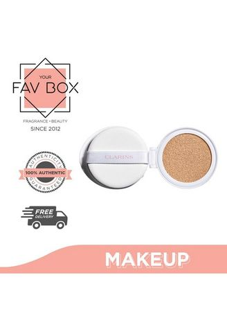 No Color color Face . YOUR FAV BOX Clarins Bright Plus Spf50 Brightening Cushion Foundation 105 Nude 13ml Refill with Sponge -