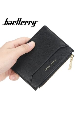 Wallets . Baellerry Fashion Leather Mini Coin Purse Card Case Holder ID Holder License Wallet Clutch -