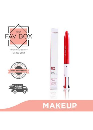 No Color color Eyes . YOUR FAV BOX Clarins 4 Colour All In One Pen Eyes & Lips 02 4 X 0.1g -