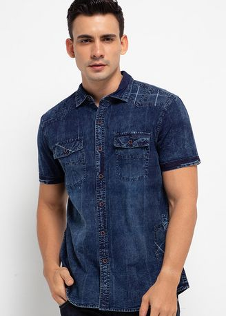 Navy color Casual Shirts . X8 Fachry Shirts -