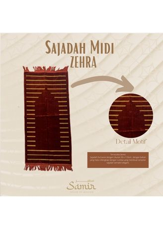 Multi color Sholat Equipment . Sajadah Turkey Midi Zehra 55x110 Terracota -