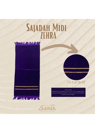 Ungu color Perlengkapan Sholat . Sajadah Turkey Midi Zehra 55x110 Purple -