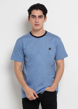Misty Light Blue color T-Shirts and Polos . POLICE T-Shirt Patch Polos Pria -