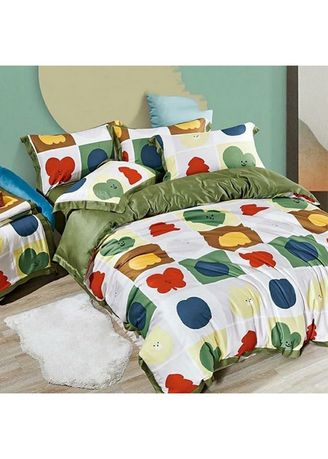 Putih color Kamar Tidur . Sleep Buddy Set Sprei Round Heart Tencel Modal Single Size -