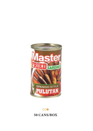No Color color  . Master Fried Sardines Spanish Style Pulutan, 155g (50 Cans/Box) -