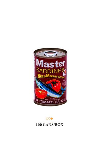 No Color color  . Master Sardines Red in Tomato Sauce, 155g (100 Cans/Box) -
