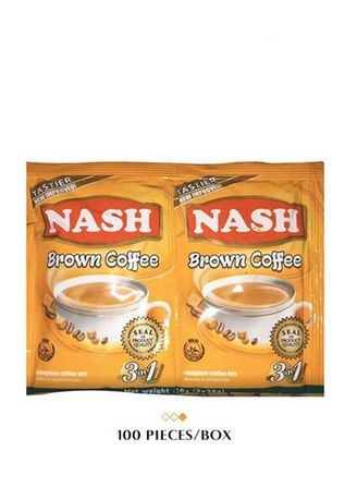 No Color color  . Nash Twin Pack Brown 3-in-1 Coffee, 50g (100 Pieces/Box) -