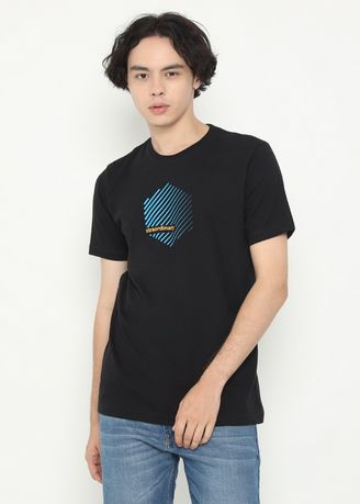 Jet Black color T-Shirts and Polos . XTRAORDINARY T-Shirt Cotton Combed Pria -