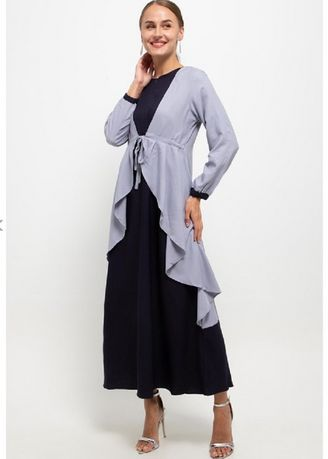 Navy color Dresses . PURICIA GAMIS MARYAM PDB01104A -