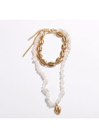 White color  . Resin Necklace -