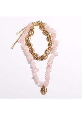 Pink color  . Resin Necklace -
