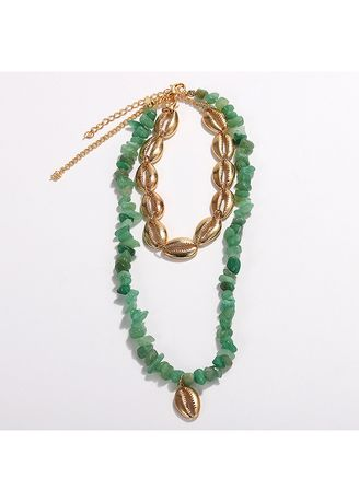Green color  . Resin Necklace -