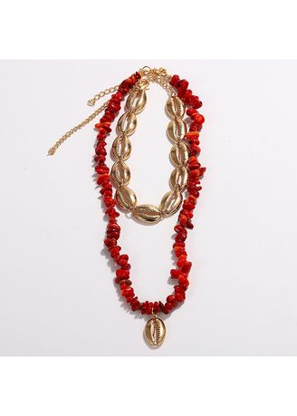 Red color  . Resin Necklace -