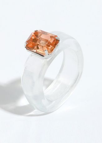 White color  . Resin Crystal Stone Ring -