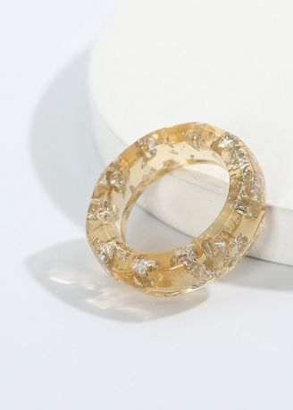 Gold color  . Resin Material Ring -