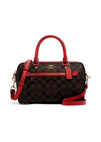 IM/BROWN/1941 RED color กระเป๋าสะพาย . กระเป๋าสะพายข้าง COACH 83607 ROWAN SATCHEL IN SIGNATURE CANVAS (IMRVQ) [83607IMRVQ-MA] -