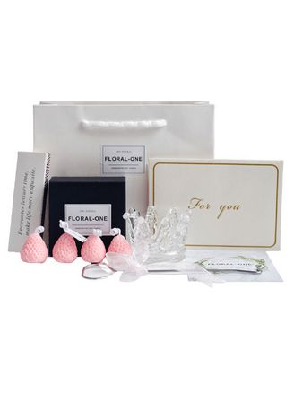 Pink color Home Decor . Strawberry Moulded Candle Set -