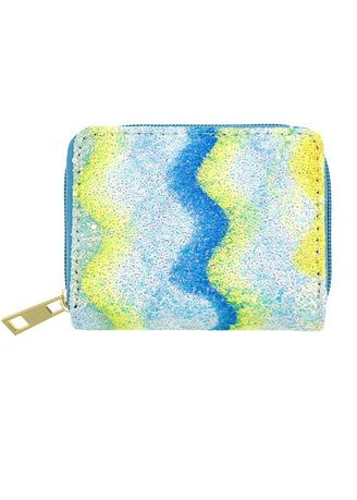 Yellow color Wallets and Clutches . Swirl Pattern Shimmery Wallet -