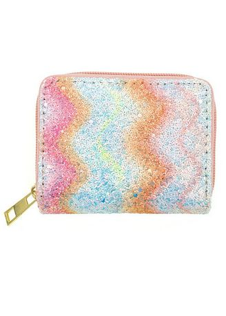 Multi color Wallets and Clutches . Swirl Pattern Shimmery Wallet -