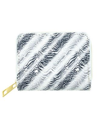Black color Wallets and Clutches . Striped Shimery Wallet -