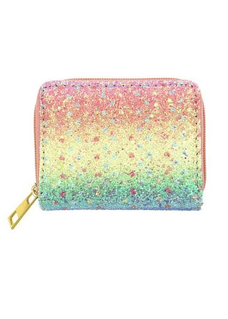 Multi color Wallets and Clutches . Rainbow Shimmery Wallet -