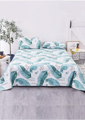 White color Bedroom . Printed Bed Sheet and Pillow Case Set -