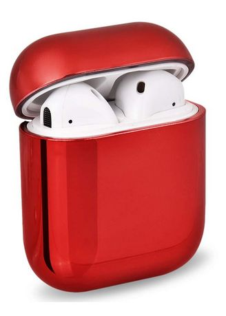 Red color Cases & Covers . Chrome Finish Airpod Case -