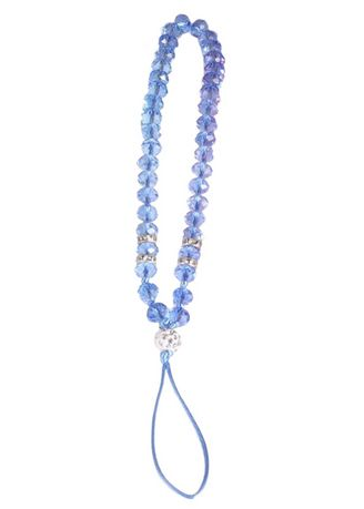 Light Blue color Cases & Covers . Short Lanyard Beaded Phone Strap -