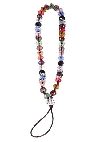 Multi color Cases & Covers . Short Lanyard Beaded Phone Strap -