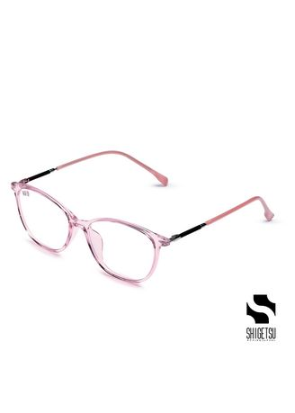 Pink color Frames . Shigetsu KASHIMA RadPro Glasses in Acetate Frame with Anti Radiation for Women/Replaceable Optical Lens -