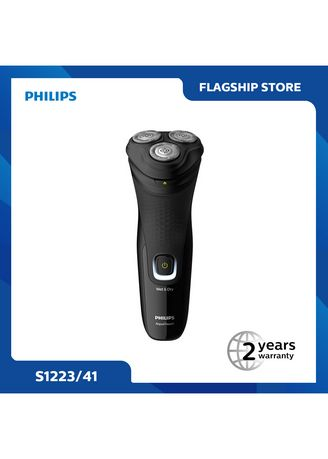 Black color Shaving . Philips S1223 Wet and Dry Electric Shaver -