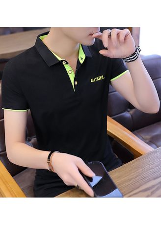 Green color T-Shirts and Polos . Dark Coloured Solid Fitted T-Shirt -