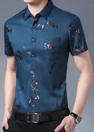 Light Blue color Casual Shirts . Printed Casual Shirt -