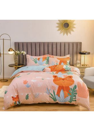 Orange color Bedroom . Cartoon Theme Bed Sheet and Pillow Case Set -