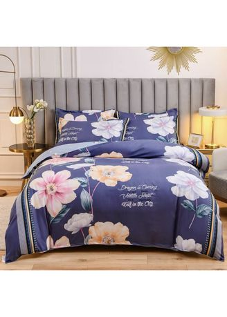 Navy color Bedroom . Dragon Bed Sheet and Pillow Case Set -