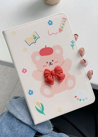 White color Cases & Covers . Bowbear iPad Flipcase -