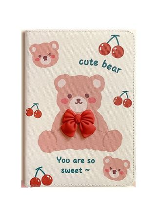 White color Cases & Covers . Cherry Bear iPad Flipcase -