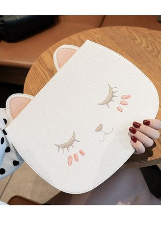 White color Cases & Covers . Kitty iPad Case -