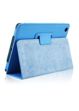 Blue color Cases & Covers . Magnetic Closure iPad Case -