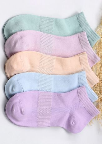 Multi color Socks . Combed Cotton Candy Color Ladies Socks QWZ007 -